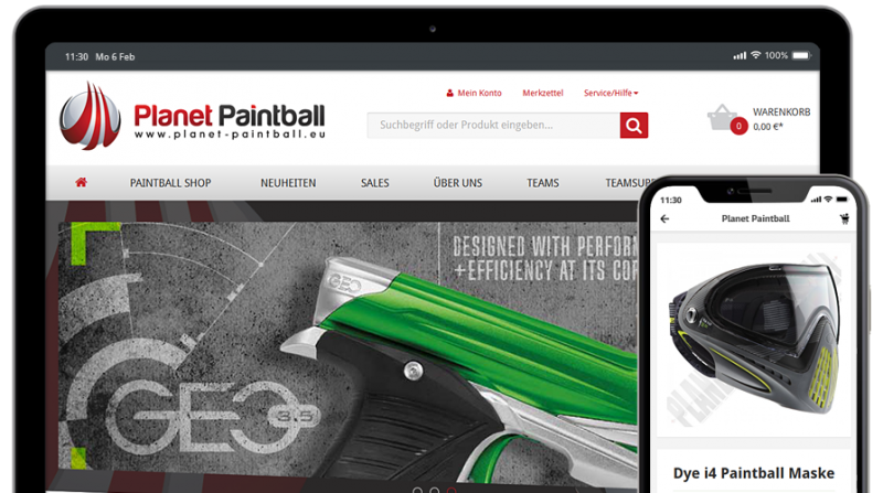 Shopware Referenz - Planet-Painball.eu