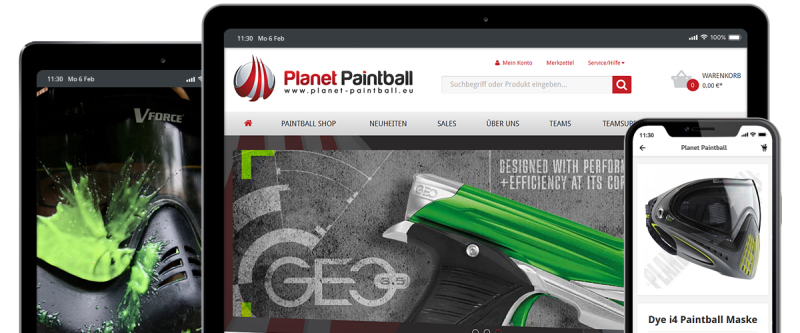 Shopware Referenz - Planet-Paintball.eu